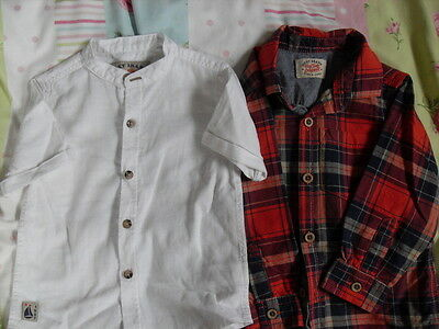 Next Boys Shirts X 2 12 - 18 Mths - Super Condition Hardly Worn
