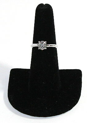 14K White Gold 4-Prong Round Cut Solitaire Diamond Engagement Ring (3ct stone)