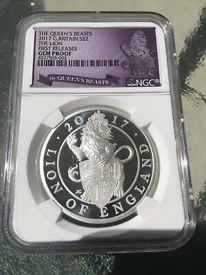 2017 Great Britain 1oz Proof Silver Queen's Beasts Lion (8,500 Mintage) Gem. FR