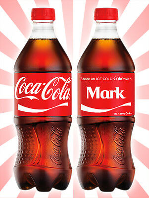 Coca-Cola Share a Coke with Mark Collectible Rare Unopened Red Bottle 20 OZ