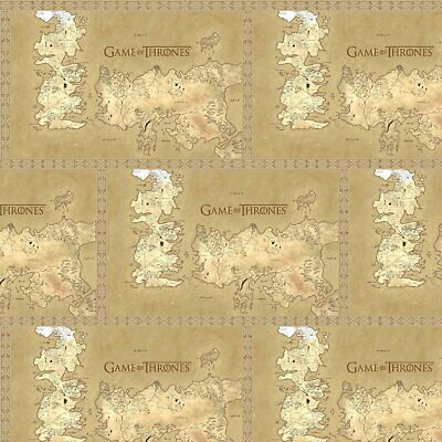 Springs Creative Fabric Game Of Thrones Map Of Westeros HALF METRE