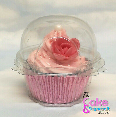 Cupcake Holder Clear Plastic Single Muffin Case Box Pods