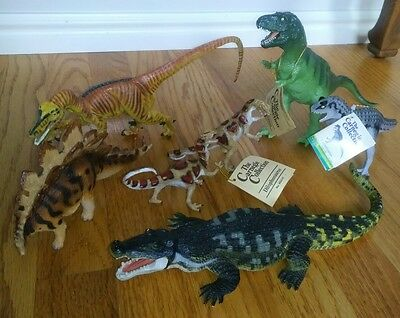 Vintage Carnegie Safari Ltd Dinosaurs Lot of 8 Carnegie Collection