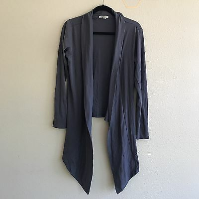 Old Navy Maternity Medium Open Front Draped Cardigan Top Solid Gray
