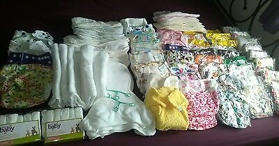 HUGE bundle 43 reusable /washable nappies and 800+ flushable liners! Lots BNIP
