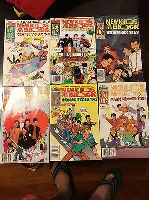 New Kids On The Block Comic Book Lot Of 10