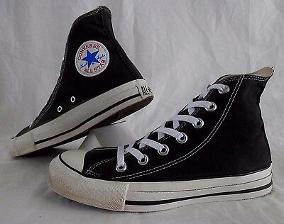 Vintage Converse Made In USA Chuck Taylor All Star Black Hi Tops Shoes Men's 5.5