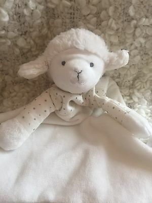 MOTHERCARE Lamb Comforter Soft Toy - Sheep Comforter - VERY RARE Sleep Blanket