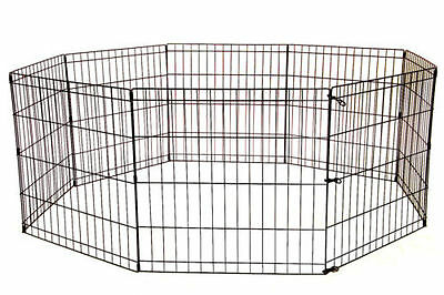 24 30 36 42 48 Tall Dog Playpen Crate Fence Pet Play Pen Exercise Cage / 8 Panel