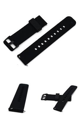 """Soft Silicone Replacement Strap Band for Asus Zenwatch 2 Smart Watch 1.63"""" BLACK"""