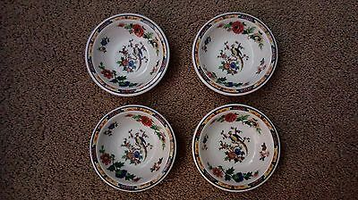 "Syracuse China Dewitt Clinton Bird 4 1/2""  Fruit Bowl (Lot Of 4)"