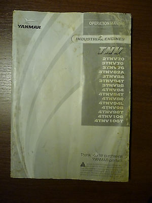 #263 Yanmar TNV Bedienungsanleitung operation manual
