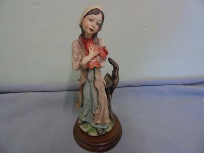 Vintage Capodimonte Figurine - Peasant Girl with Red Scarf