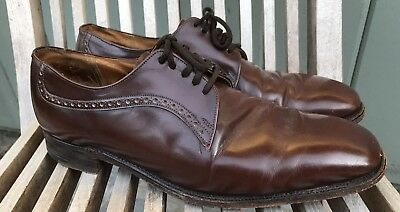 NICE MENS CHURCH's CUSTOM GRADE BROWN LEATHER OXFORD DRESS SHOES 10.5