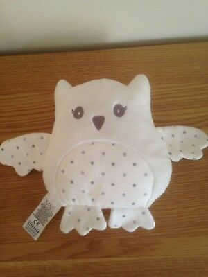 Marks And Spencer M&S White Owl Stars Reversible Baby Soft Toy Comforter