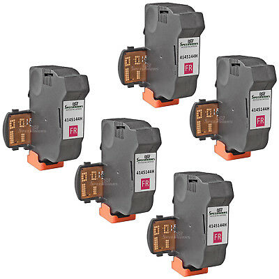 5pk For Neopost Fluorescent Red 4145144H Inkjet Cartridge for NeoPost IS-280