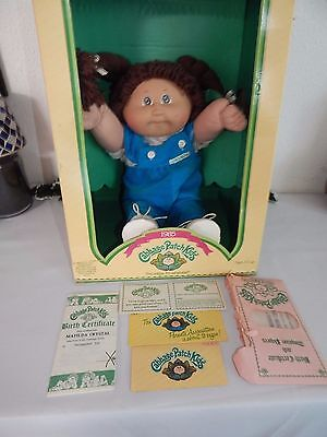 Vintage 1985 Cabbage Patch Kids Doll ~ Green Eyes ~ One Dimple ~ MATILDA CRYSTAL