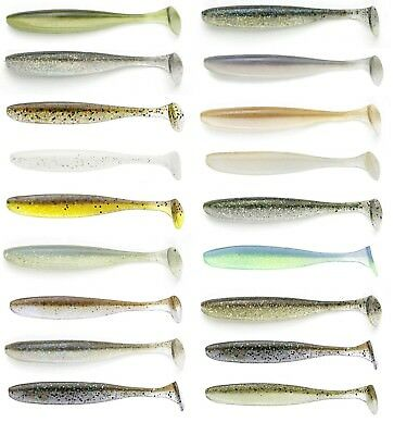 "Keitech Easy Shiner Paddle Tail Soft Body Swimbait Bass Lure 4"" (10 Cm) 7pk"
