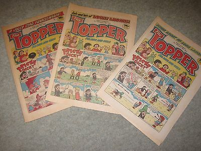 THREE Topper Comics 1983/4