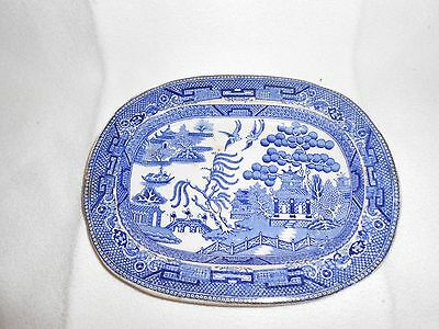 """Staffordshire england warranted oval dish W A & Sons 7.5"""" L and 6"""" W"""