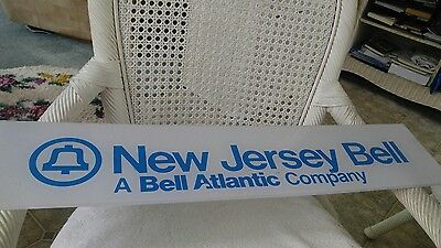 Vintage NEW JERSEY Bell System telephone sign blue and white plexiglass #2