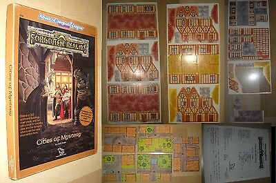 Cities of mystery forgotten realms. 1°Ed. TFR 1989. Advanced dungeons & dragons