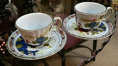 AMM Made in Italy 23035 Cup & Saucer set of 2 Carnationware
