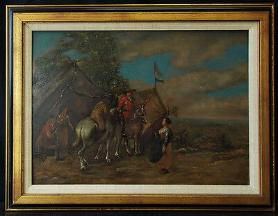 Antique 18th Century Dutch Oil Painting Signed Reframed