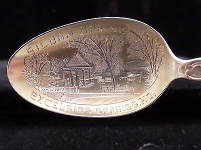 Excelsior Springs-Missouri, Engraved Sterling Silver- Souvenir Spoon