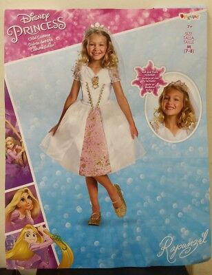 Disney Tangled Rapunzel Wedding Gown Child Costume Size M 7-8 *Free Shipping*