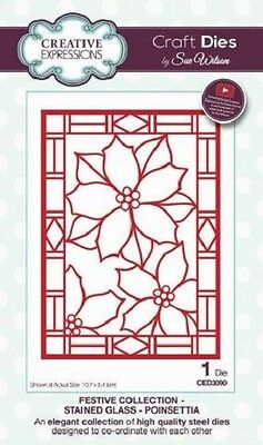 Creative Expressions Sue Wilson Poinsettia Additions CED3051 14 matrices
