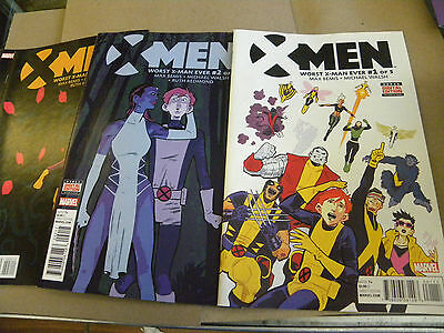 Marvel 2017 4 of 5 issues X-MEN WORST X-MAN EVER 1 2 3 4 reg $16 qq