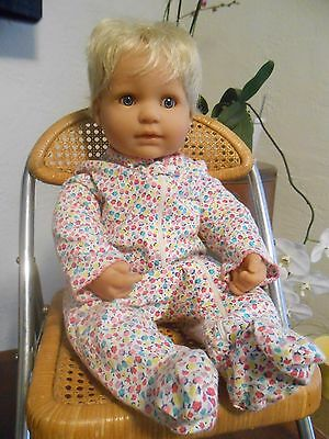 "Berenguer Boutique JC Toys 21"" weighted baby doll blonde hair soft cloth body"