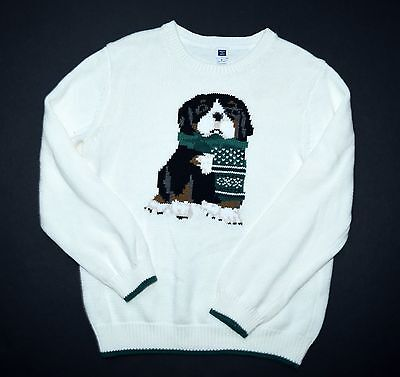 Janie and & Jack 6 Highlands Walk Dog Holiday Winter Sweater Pullover NG1