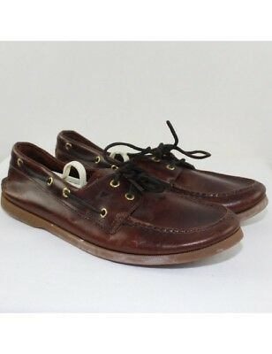 SPERRY Men's Brown Leather Boat Shoes Size 12M
