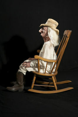 Amazing Halloween Life Size Animated Rocking Chair Grandpa Prop Pdpeps Interior Chair Design Pdpepsorg