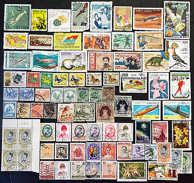 Collection Of Stamps Of South East Asia Vietnam Thailand +++