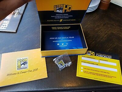 SDCC 2017 Comic-Con Collector's Pin and Swag Box Set with Booklet SDCC