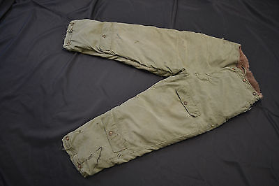 Wwii  Usa Army Air Forces Type A-10 Lined Cold Weather Flight Pants Sz 38 Usaf