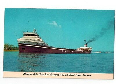 Great Lakes Ship Postcard - Edward L Ryerson Inland Steel Freighter