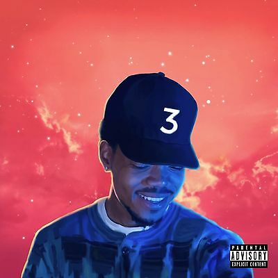 """Chance The Rapper Coloring Book Rap Music Cover Poster 12x12"""" / 24x24"""" / 32x32"""""""