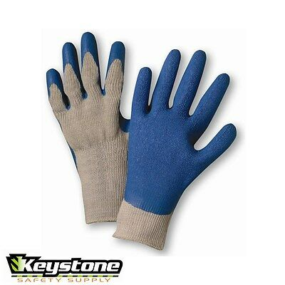 3 Pair West Chester 700SLC Cotton/Polyester Latex Palm Work Gloves   Large