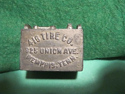 Old vintage advertising paperweight 416 Tire Co.Memphis Tennessse & West.Battery
