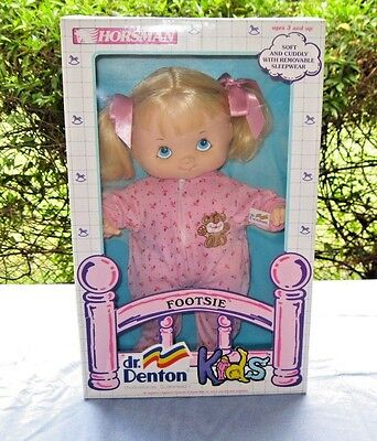"Vintage 15"" Horsman 1988 Dr. Denton Footsie Doll Nrfb New In Box"