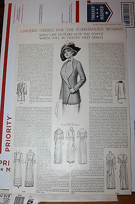 1912 Lingerie Dress Forehanded Woman Ad Designs Fashion Rare