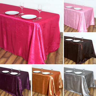 "20 pcs RECTANGLE 90x132"" Crinkled Taffeta TABLECLOTHS for Wedding Banquet Event"
