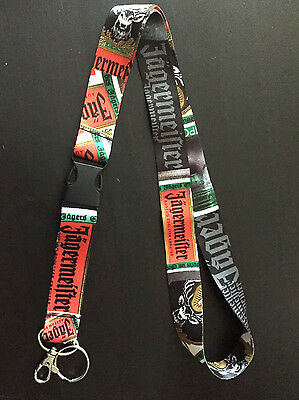 JAGERMEISTER  Lanyard w/ Detachable Clip Key Chain. NEW! Style Discontinued