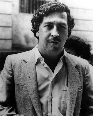 Colombian Mobster PABLO ESCOBAR Glossy 8x10 Photo Drug Lord Poster Print