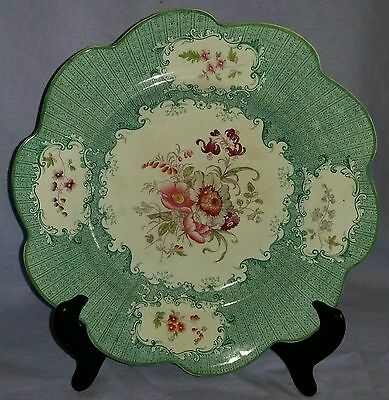 19Th Century Staffordshire Cabinet Plate With Floral Medallions