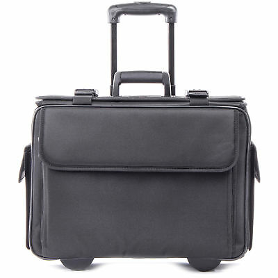 """bugatti Carrying Case (Roller) for 17"""" Notebook, Document - Black - STB261710BLK"""